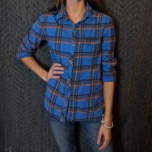 Bdg boyfriend fit small blue flannel